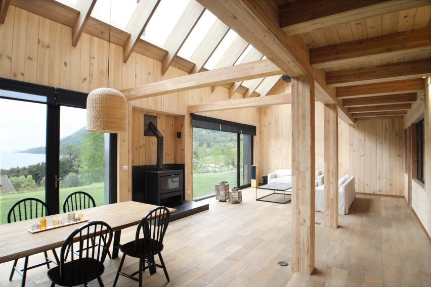 Apio Arquitectos Timber gabled holiday barns Andrew Goto