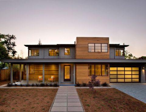 Cedar cladding horizontal