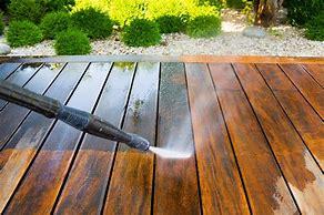 Deck jetwash timber